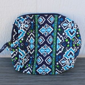 Vera Bradley Large Cosmetic in Ink Blue